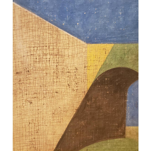 Jacques Lamy De Chirico Style Painting of Adobe Steps by Jacques Lamy For Sale - Image 4 of 8