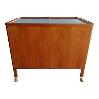 1960s Danish Modern Expandable Bar Cart by Glasdam Jensen For Sale