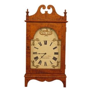 Stephen Von Hohen Tiger Maple Primitive Clock For Sale