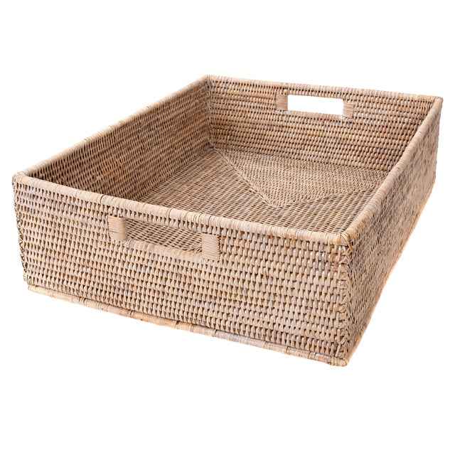 "Artifacts Rattan Rectangular Basket 20""x16""x6"" For Sale"