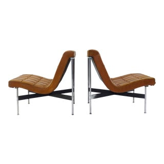 Pair of Two Armchairs by William Katavolos for Icf Milano, 1990 Italy For Sale