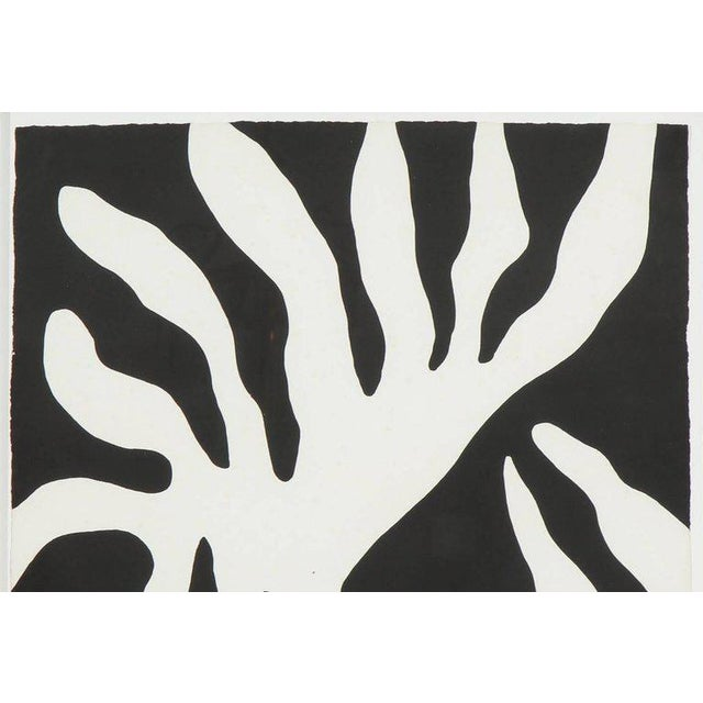 Abstract 1960s Abstract Scree Print of Leaf Form by William Turnbul For Sale - Image 3 of 8