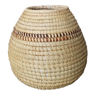 African Zulu Coiled Basket Vase For Sale