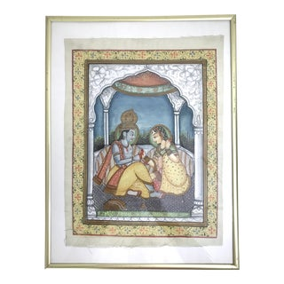 The Indian Pavilion - Silk Painting For Sale