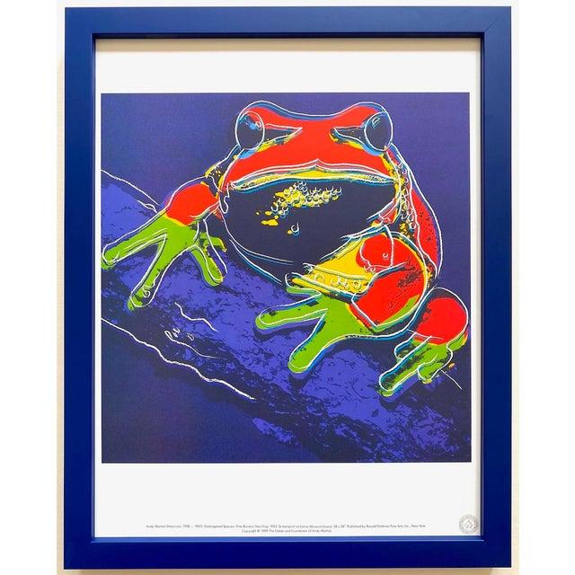 """Andy Warhol Estate Vintage 1989 Endangered Species Framed Lithograph Print """" Pine Barrens Tree Frog """" 1983 For Sale - Image 13 of 13"""