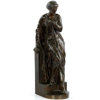 After Eugene Aizelin by Gautier and Albinet, Bronze Sculpture of Venus Bathing For Sale