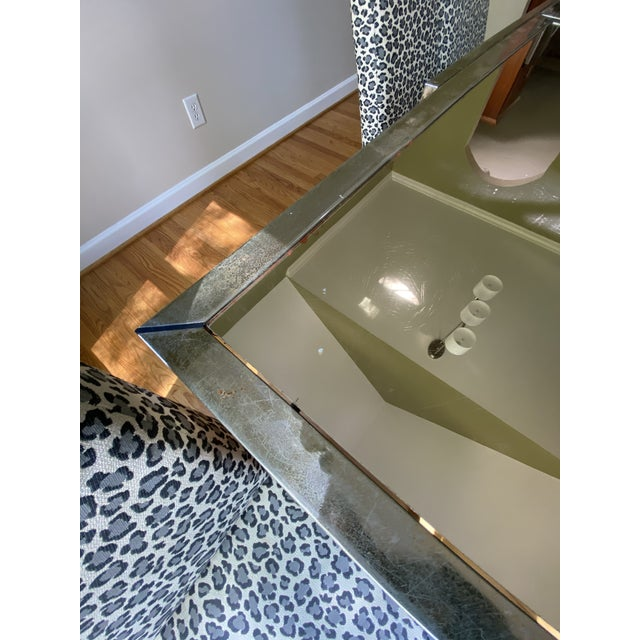 1970s 1970s Mastercraft Brass Expandable Dining Table & Mastercraft Leopard Chairs With Brass Legs - Set of 7 For Sale - Image 5 of 13