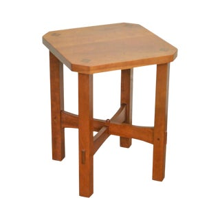 Stickley Solid Cherry Mission Arts & Crafts Style Taboret Side Table