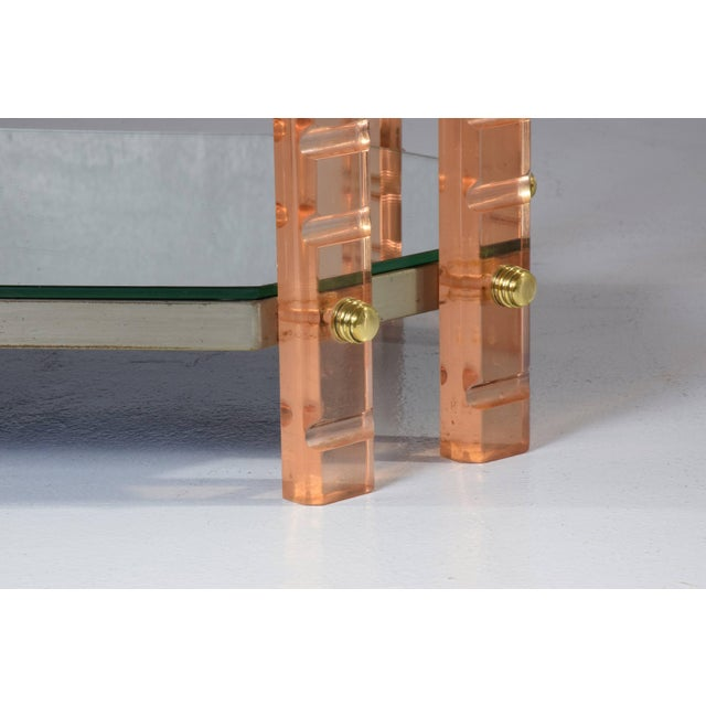 20th Century French Plexiglass Etagere or Bar Cart For Sale - Image 10 of 11