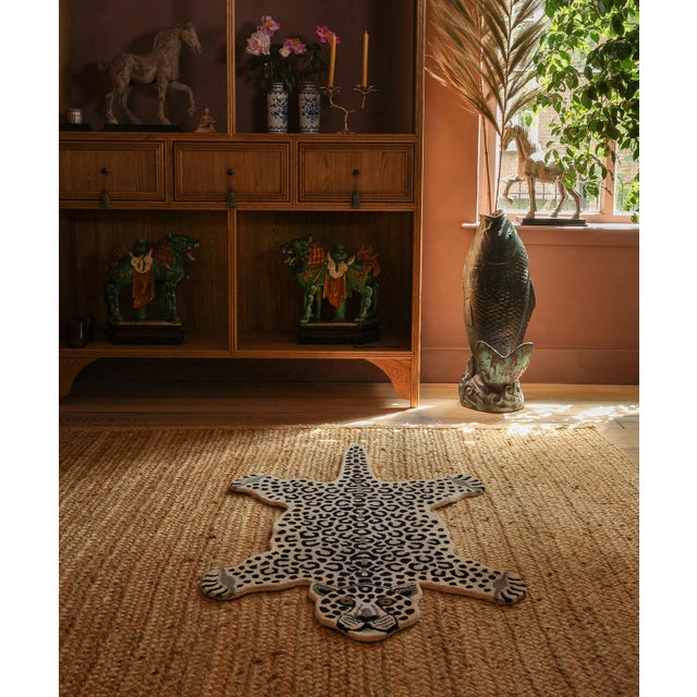 Not Yet Made - Made To Order Doing Goods Snowy Leopard Rug Large For Sale - Image 5 of 6