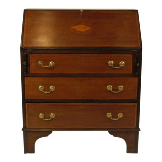 19th Century English Traditional Slant Lid Secretary Desk For Sale