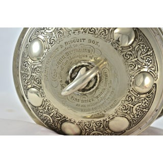 Antique Silver English Biscuit Barrel Preview