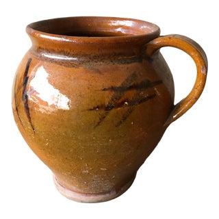 """Italian Antique Pot- 8""""h For Sale"""