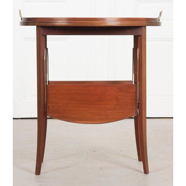 French Early 20th Century Oval Mahogany Tea Table For Sale - Image 11 of 13