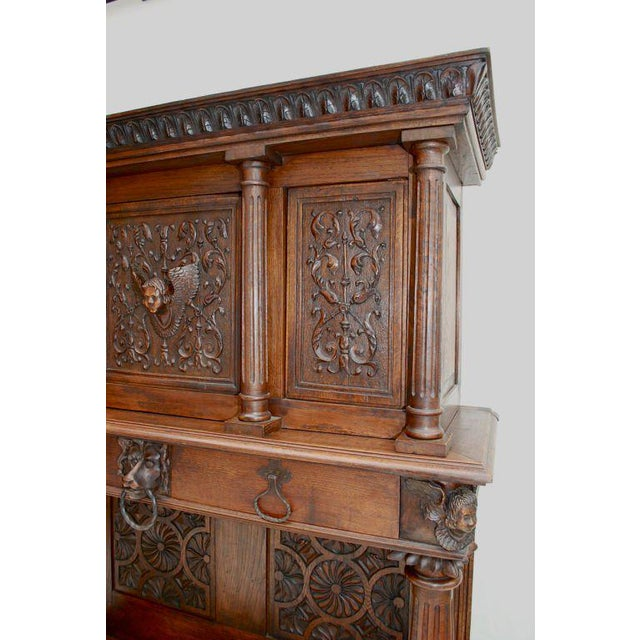 A beautiful and imposing French late 19th century buffet, the picture speak for it self, the patina and the details are...