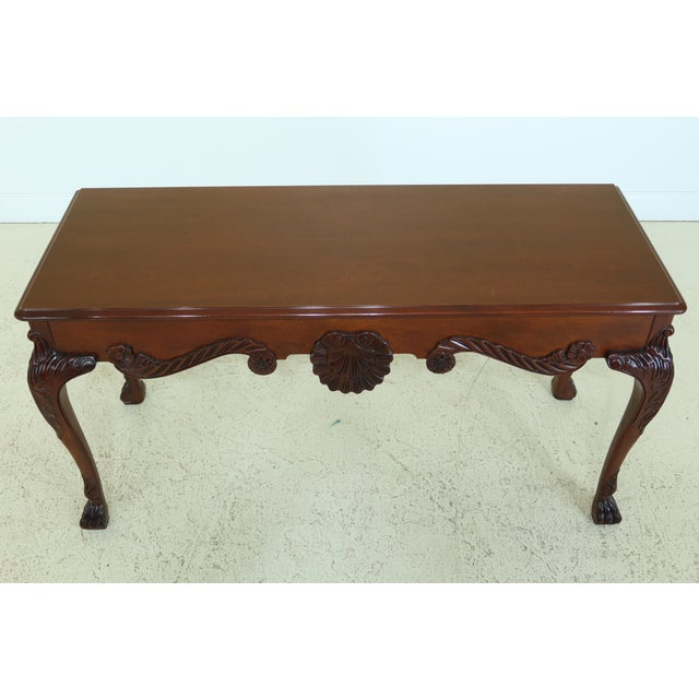 Item: L29716EC: BAKER Irish Georgian Style Mahogany Console Table Age: Approx: 30 Years Old Details: Nice Carved Details...