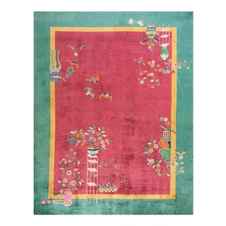 1920s Antique Chinese Art Deco Rug-8′9″ × 11′4″ For Sale