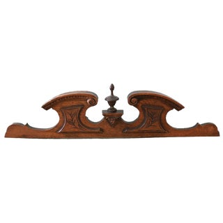 Antique French Carved Wood Pediment For Sale