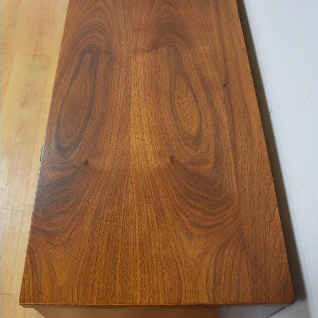 Walnut and Black Vinyl Dresser For Sale - Image 11 of 11