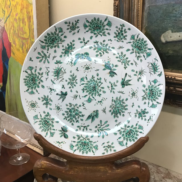 Green & White Butterfly Charger For Sale - Image 4 of 5