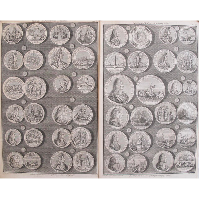 Original 1745 British Engravings, Royal Medals - A Pair - Image 2 of 9