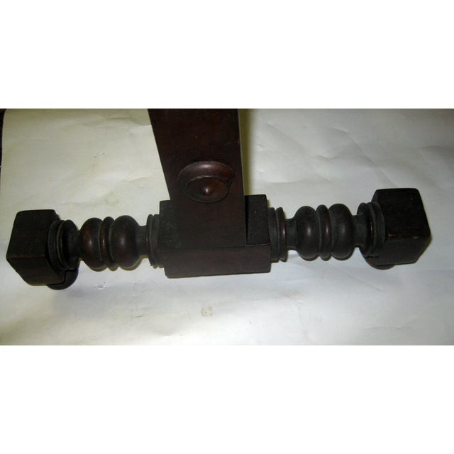 19th Century Gothic Revival Walnut Swinging Cradle For Sale - Image 9 of 13