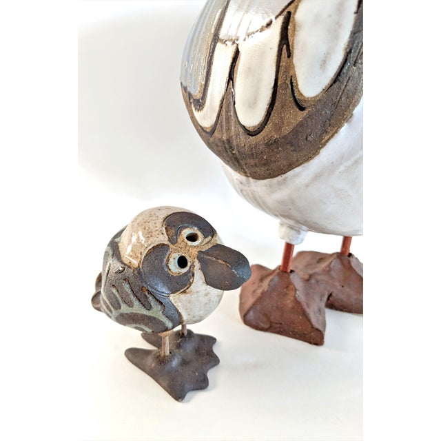 1980s 1980s Mid Century Modern Studio Pottery Seagull Sculptures - 2 Pieces For Sale - Image 5 of 13