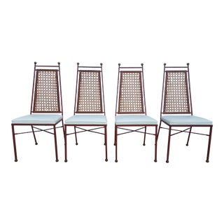 French Hollywood Regency Outdoor or Indoor Dining Chairs Set of -4