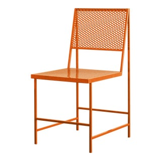 Foreman Brothers Flux Dining Chair in Classic Orange For Sale