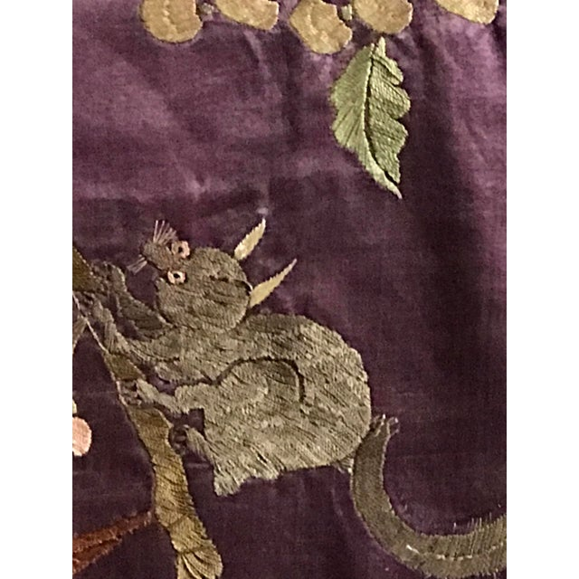 Chinese Embroidered Silk Textile-Runner For Sale In Raleigh - Image 6 of 12