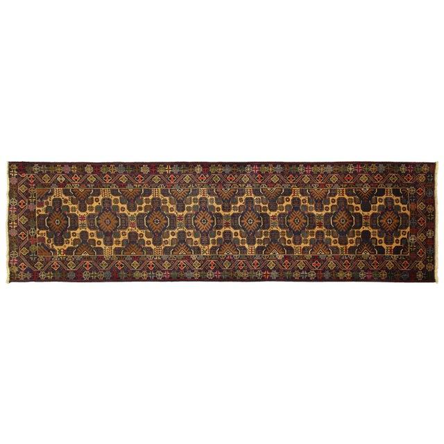 """Tribal Baluch Wool Runner Rug - 2'9"""" x 10' - Image 1 of 9"""