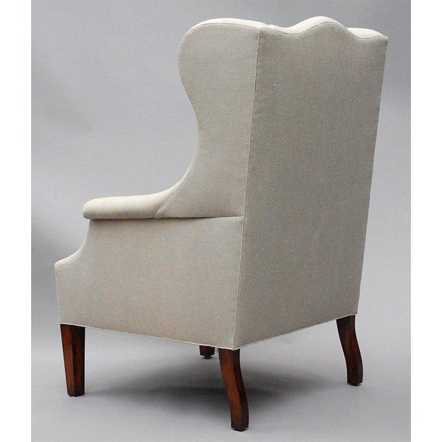"""White """"Somerton"""" by Lee Stanton Armchair Upholstered in Belgian Linen or Custom Fabric For Sale - Image 8 of 9"""