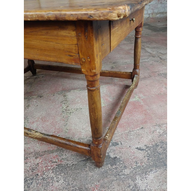Walnut 19th Century English Walnut Farm Coffee Table For Sale - Image 7 of 10