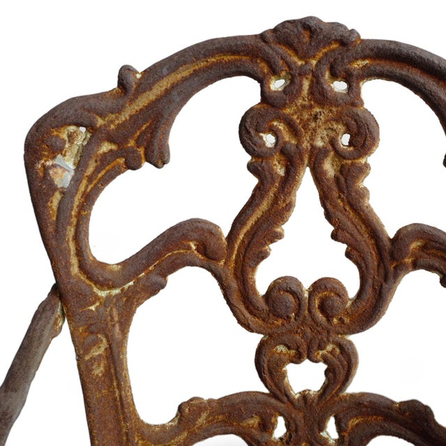 Mid 20th Century Vintage Cast Iron Bistro Set of Three For Sale - Image 5 of 7