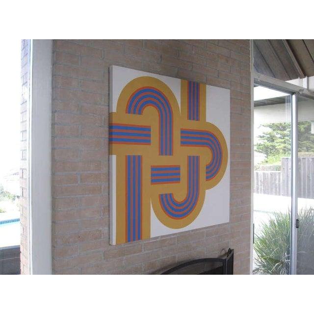 """1973 Serigraph """"Weave"""" X Large Art Reis Manwaring - Image 3 of 4"""