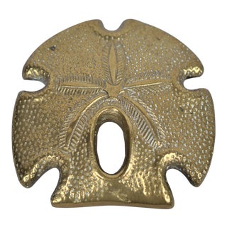 Vintage Brass Sand Dollar Paper Weight For Sale