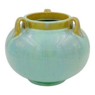 Vintage Fulper Pottery Three Handled Vase With a Flambé Glaze, 1917-1927 For Sale