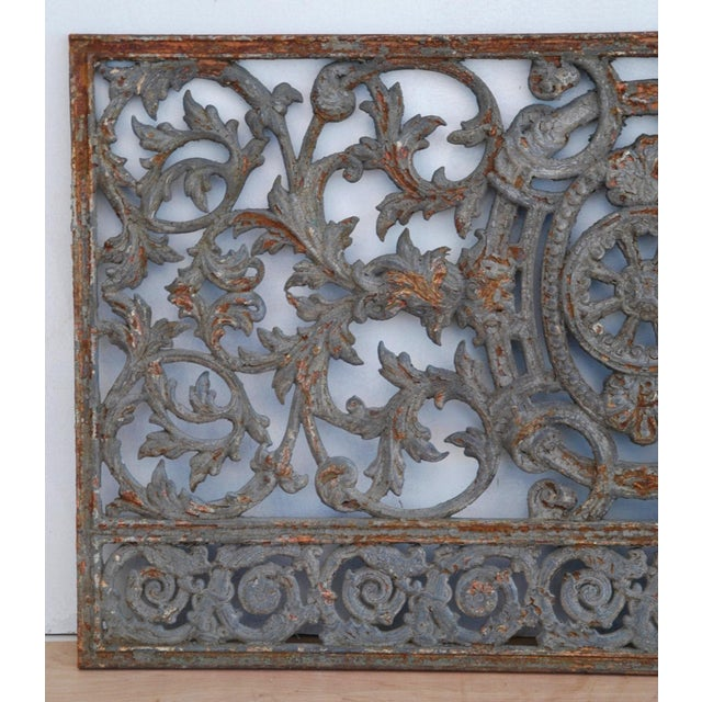 Antique 19th C. French Iron Architectural Panel - Image 4 of 11