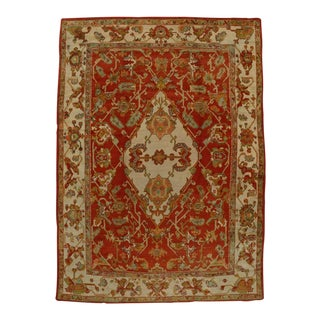 Antique Turkish Oushak with Modern Style For Sale