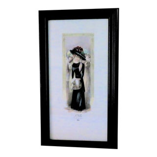 """Le Chic Colette"" Parisian Print For Sale"