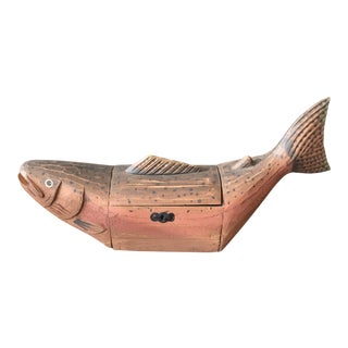 Decorative Wooden Fish Box For Sale
