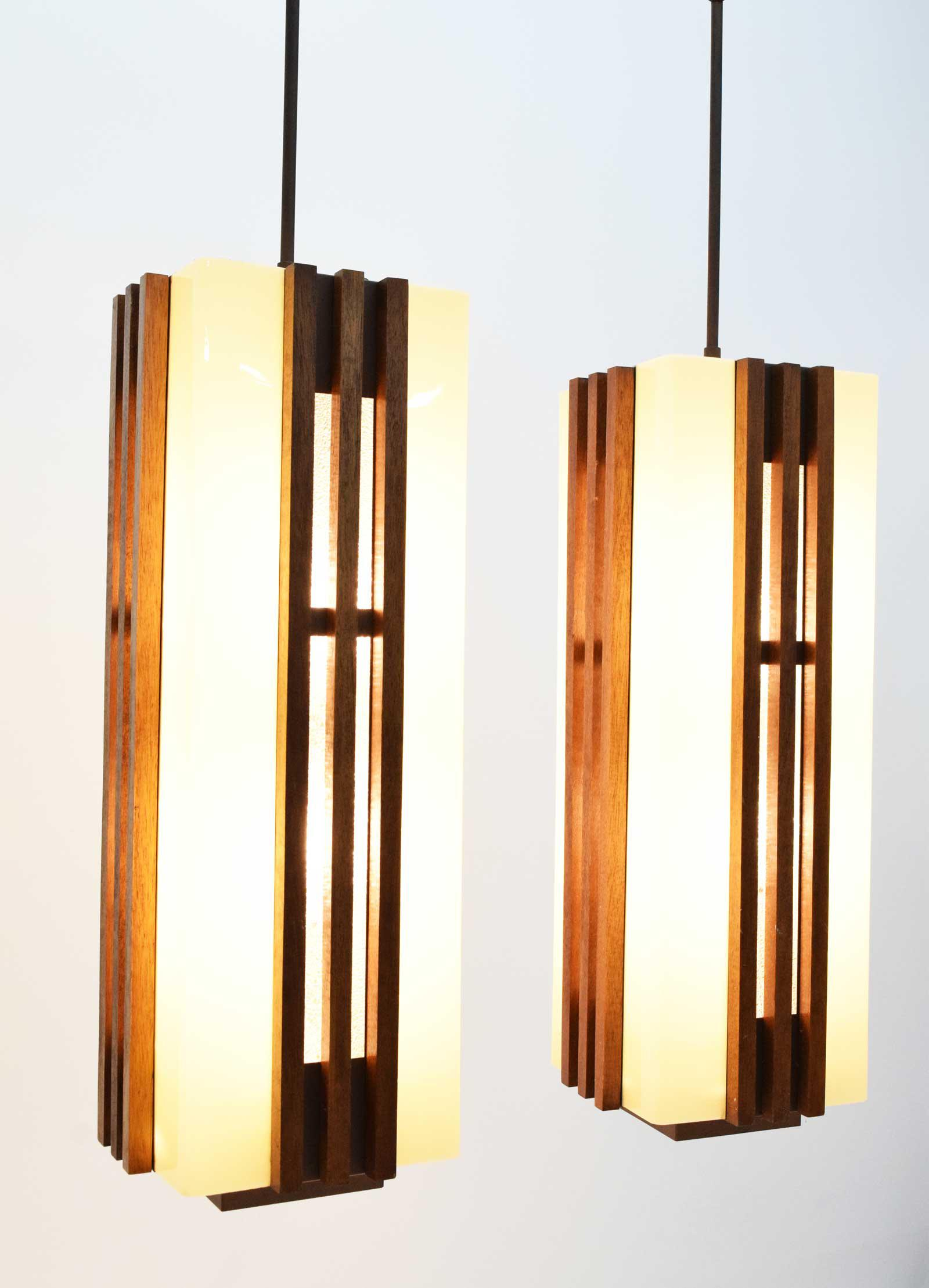 Large Frank Lloyd Wright Or Mission Style Pendant Lights   Image 2 Of 11