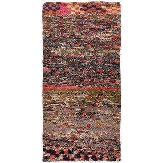 Vintage Moroccan Wool Rug - 2′1″ × 6′ For Sale