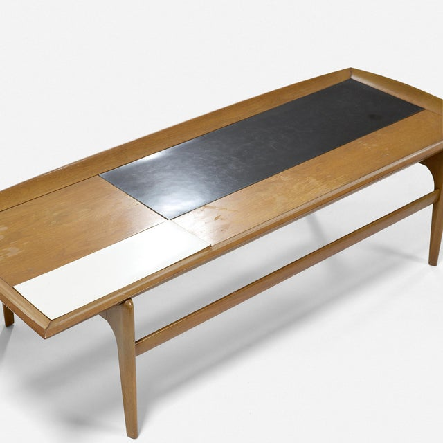 1950s Set of Three Vintage Midcentury Modern Tables Designed by John Keal for Brown Saltman For Sale - Image 5 of 7