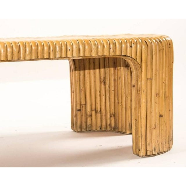 Stylish Milo Baughman Style Bamboo Coffee Table. A great accent piece!
