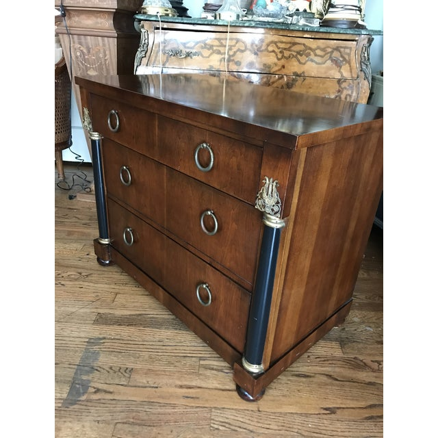 1940s 1940s Neoclassical Dark Mahogany Dresser For Sale - Image 5 of 11