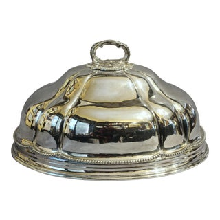 1860s Antique Sliver Plated Meat Cover For Sale