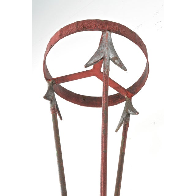 Neoclassical Style Cast Iron Plant Stand For Sale - Image 4 of 9