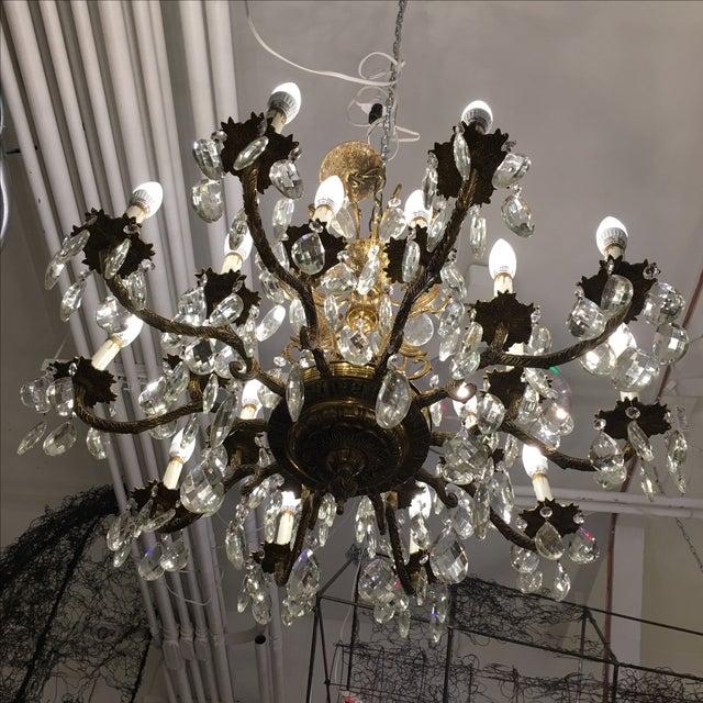 Vintage Twenty Light Crystal Chandelier - Image 6 of 11