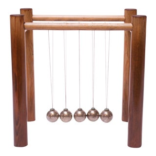 "Vintage Newton's Cradle ""Swinging Wonder"" by Scientific Demonstrators Inc. For Sale"
